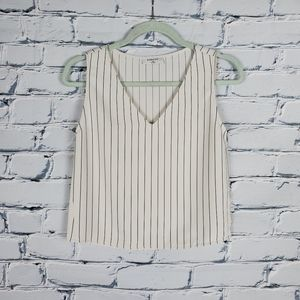 Babaton White and Black Stripe Sleeveless …